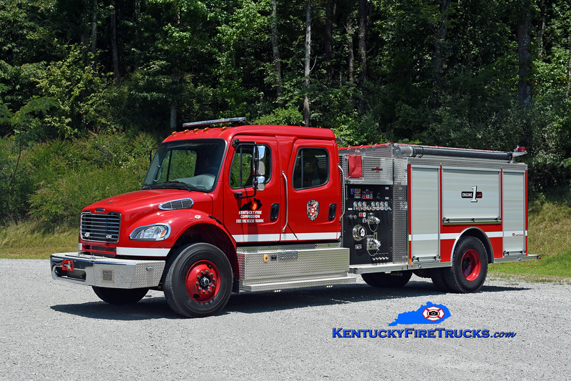 REASSIGNED TO AREA 14 <br /> Kentucky Fire Commission State Fire Rescue Training Engine 1<br /> 2018 Freightliner M2-106/Rosenbauer 1250/1000<br /> Kent Parrish photo