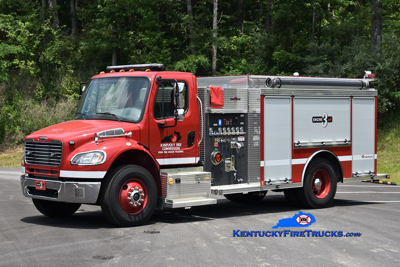 Kentucky Fire Commission State Fire Rescue Training Engine 3<br /> 2020 Freightliner M2-106/Rosenbauer 1250/1000<br /> Greg Stapleton photo