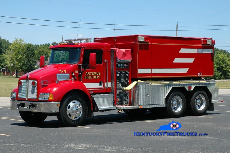 <center> Artemus  Tanker 4  <br> 2008 Kenworth T-300/Fouts Bros 500/3000 <br> Greg Stapleton photo </center>