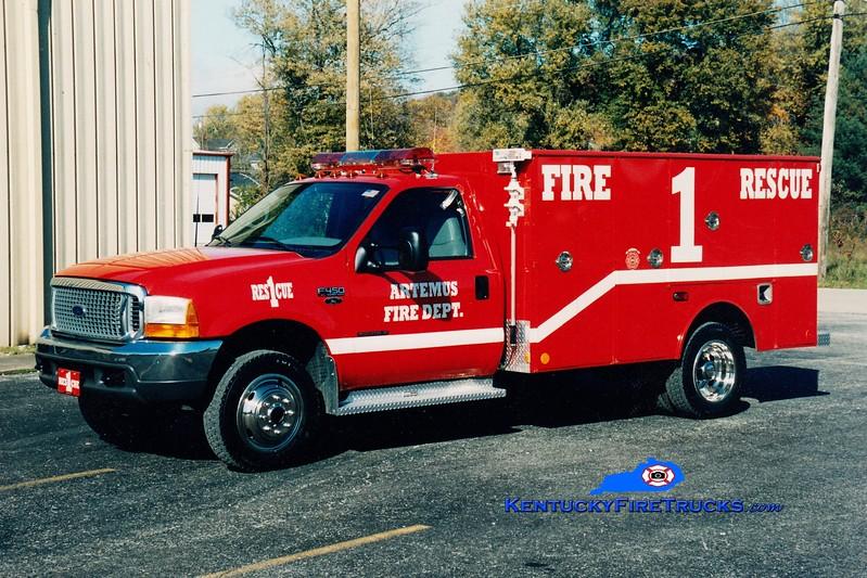 <center> Artemus  Rescue 1  <br> 2000 Ford F-450 4x4/Warner <br> Greg Stapleton photo </center>