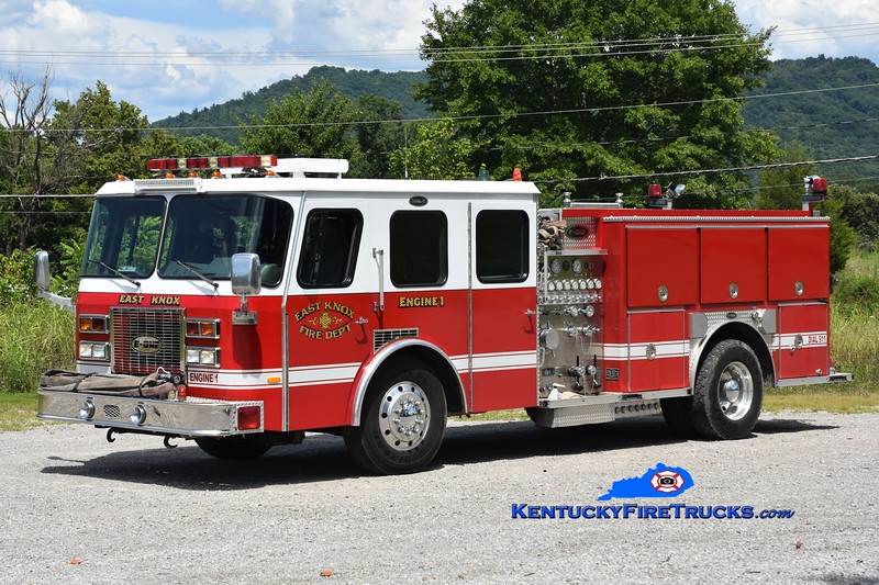 East Knox  Engine 1<br /> x-Paducah & Lockards Creek, KY<br /> 1994 E-One Protector TC 1250/500<br /> Greg Stapleton photo