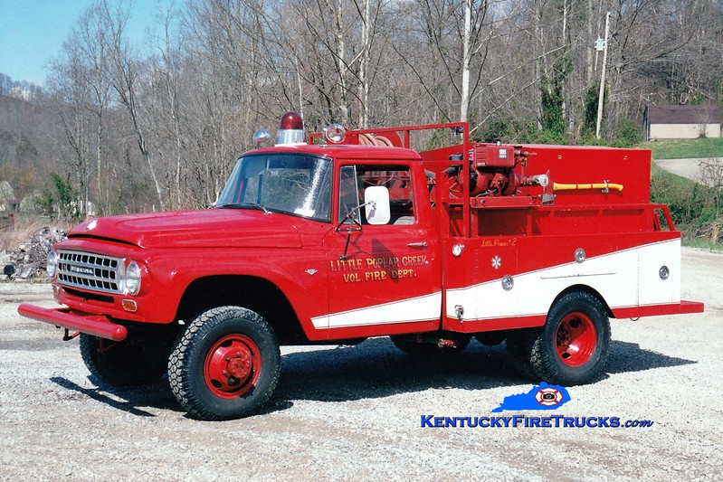 <center> Little Poplar Creek Engine 2  <br> x-Cumberland Gap National Park, KY <br> 1957 International 1300 4x4/United States Forest Service 250/250 <br> Greg Stapleton photo </center>