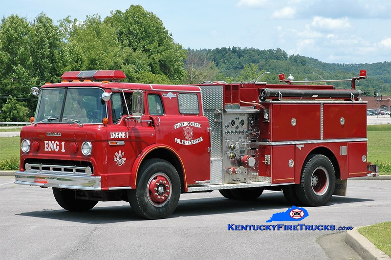 Stinking Creek  Engine 1<br /> x-Southeast Bullitt, KY<br /> 1984 Ford C-8000/Grumman 1000/1000<br /> Greg Stapleton photo