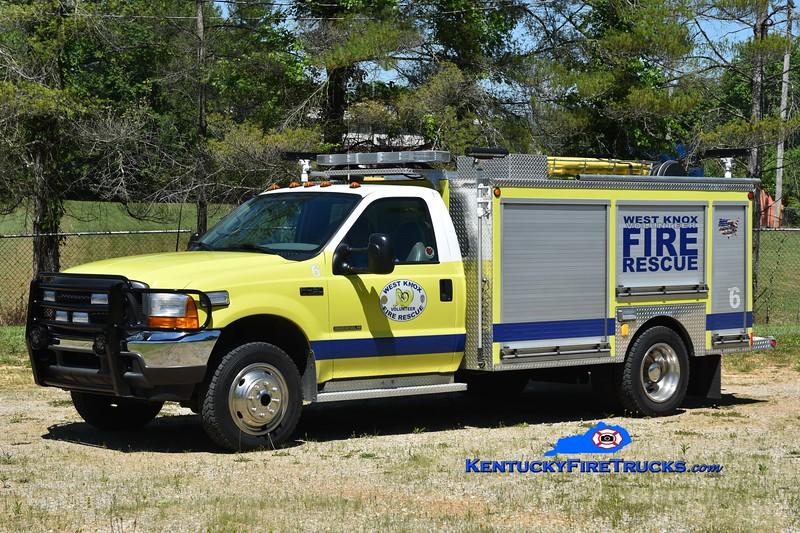 West Knox Rescue 6<br /> 2001 Ford F-450 4x4/Wynn CAFS<br /> Greg Stapleton photo