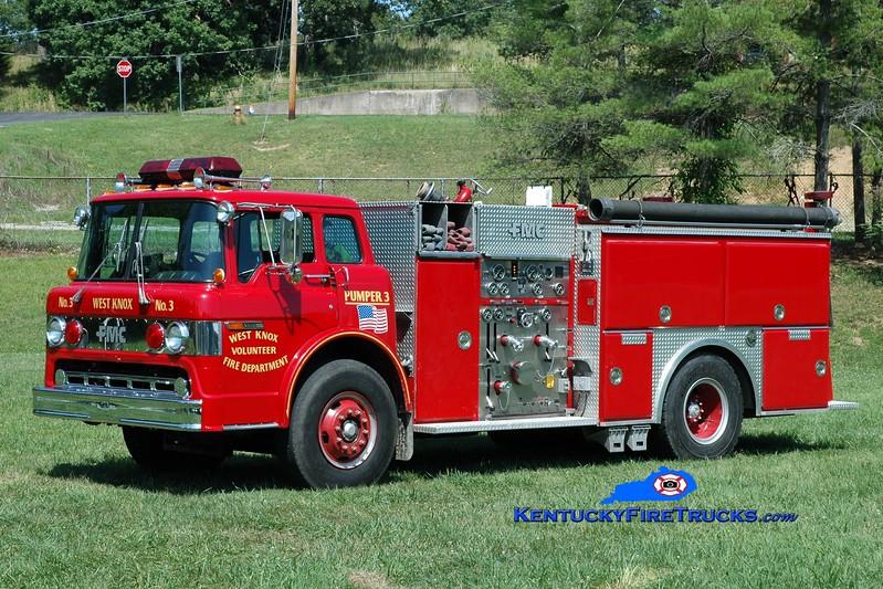 <center> West Knox  Pumper 3  <br> 1988 Ford C-8000/FMC 1250/750  <br> Greg Stapleton photo </center>