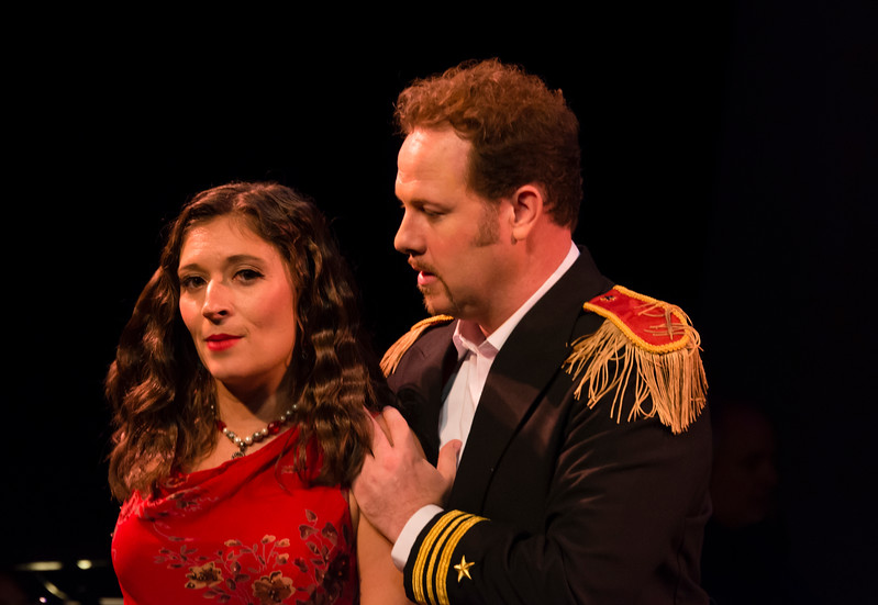 Adina (Bevin Hill) and Belcore (Christopher Holmes)