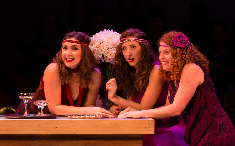Gianetta (Rachel Hall), Heather Jones, and Allison Devery