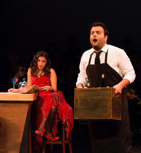 Adina (Bevin Hill) and Nemorino (Joshua Collier)