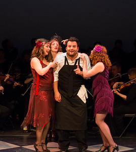 Gianetta (Rachel Hall), Heather Jones, Nemorino (Joshua Collier), and Allison Devery