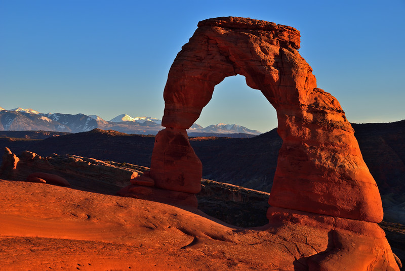 Delicate Arch at Sunset - Arches National Park, Utah - October 2006