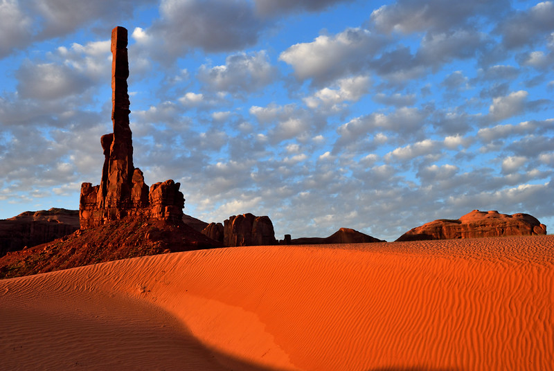 Sunrise at Totem Pole, Monument Valley - April 2007