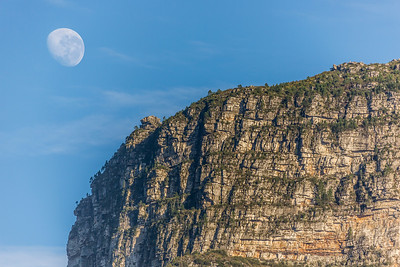 Table Mountain with Moon