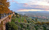 Sunset in the town of Cortona, in Arezzo, Tuscany, Italy