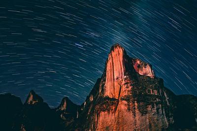 Star trail. Marcahuasi. Perú