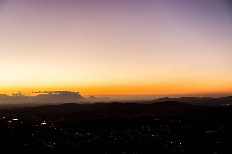 Sunset over Table Mountain from Botmaskop