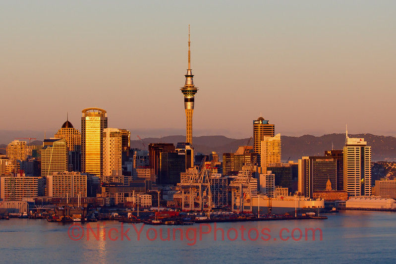Auckland City at dawn