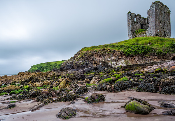 Looking up to Minard Castle