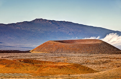 """Hualalai Volcano and Cinder Cones""  Big Island Hawaii."