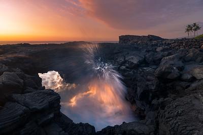 """""""Keauhou Kaipi'o""""  Sea arch shot in Keauhou on Hawaii Island."""