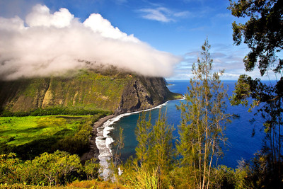 """Waipio Valley""  North Kohala, Big Island Hawaii."