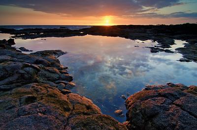 Sunset at Old A's in Kailua-Kona. Big Island Hawaii, April 2012.