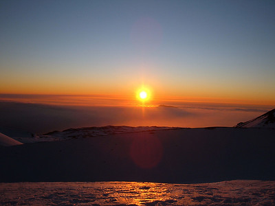 Sunset as seen from the summit of Mauna Kea. Big Island Hawaii, January 2009.