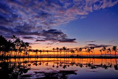 """""""Sunset at Anaehoomalu Bay""""  Big Island Hawaii."""