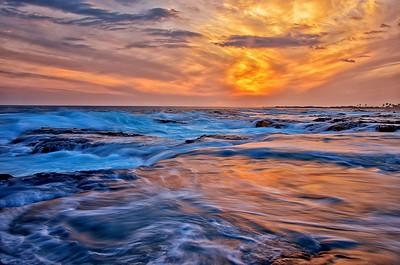 Kona sunset. Big Island Hawaii, May 2012.