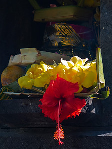 Temple offerings. Bali, Indonesia.