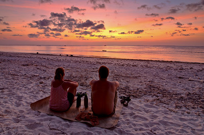 """Sunset for Two"" Nembrala Beach, Rote Is., Indonesia, September 2012."