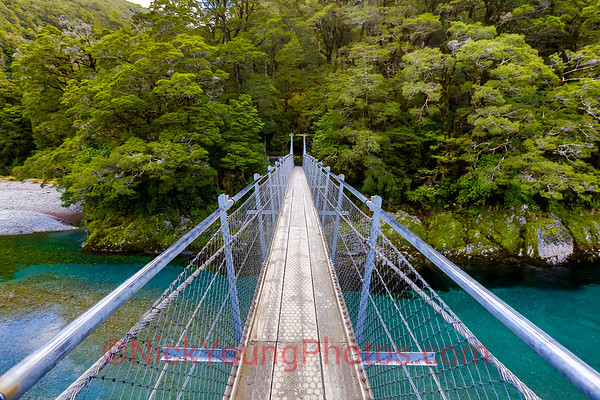 Bridge over the Blue Pools