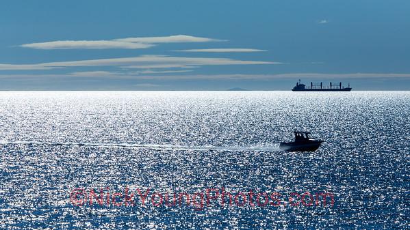 Glittery sea