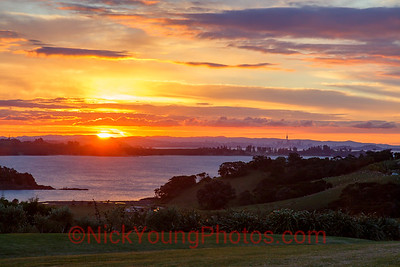 Auckland sunset from Waiheke Island