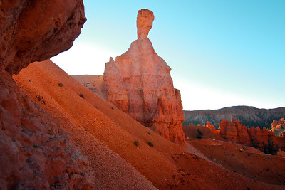 Hoodoo fist formation at Bryce National Park. Utah, October 2011.
