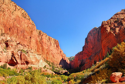 Kolob Canyon in Zion National Park. Utah, October 2011.