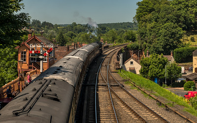 Steam Train Leaving