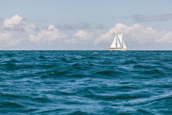 Sailing in Mustique.