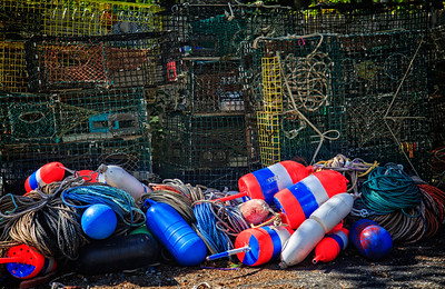 Traps and Bouys, Bar Harbor Maine