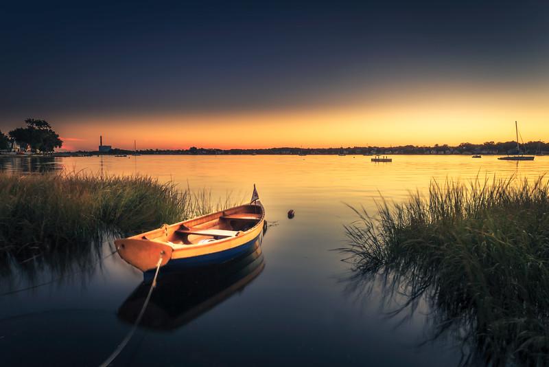 Small Boat in East Norwalk Harbor