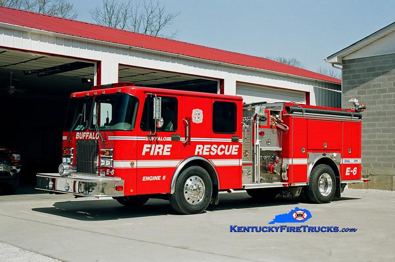 <center> Buffalo  Engine 6 <br> 2000 Spartan Advantage/E-One 1250/1000 <br> Kent Parrish photo </center>