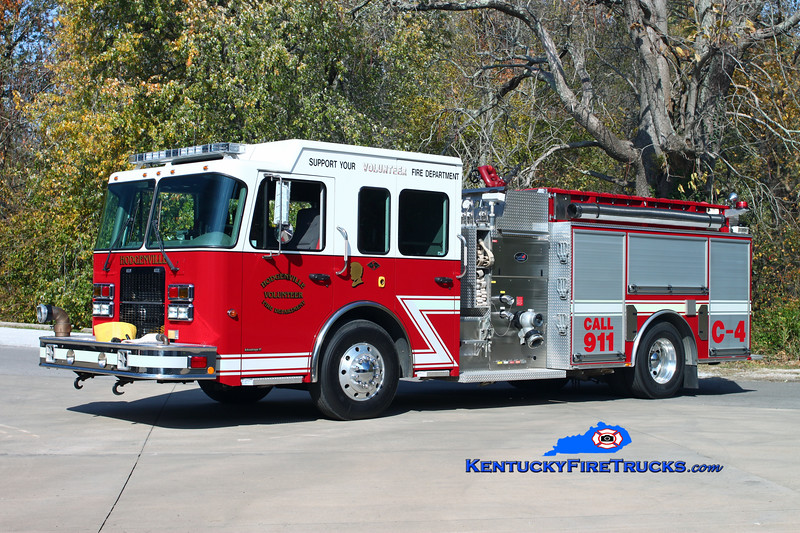 <center> Hodgenville  Engine 4 <br> 2006 Spartan Advantage/Bluegrass  1500/1000 <br> Kent Parrish photo </center>