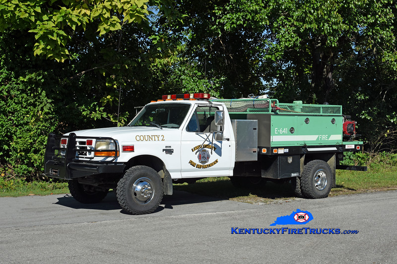 Larue County  Brush 2<br /> 1997 Ford F-350 4x4/Tebco/FD 250/300<br /> Chassis x-US Navy ambulance/Body x-USFS<br /> Kent Parrish photo