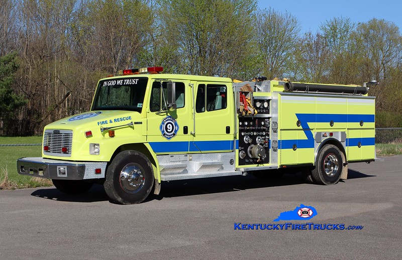 Magnolia  Engine 9<br /> x-Livingston Parish, LA <br /> 1997 Freightliner FL80/Ferrara 1250/1000<br /> Kent Parrish photo