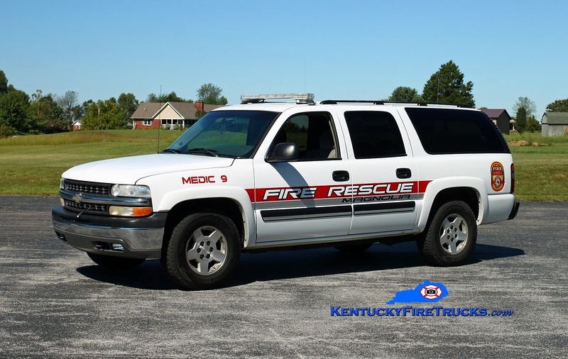 <center> Magnolia  Medic 9 <br> 2005 Chevy Suburban 4x4 <br> Kent Parrish photo </center>