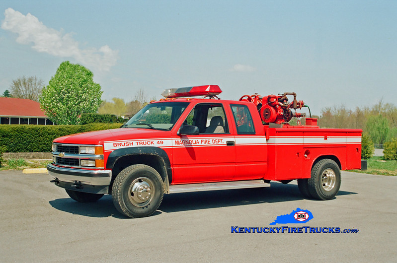 <center> RETIRED <br> Magnolia Brush 49 <br> 1996 Chevy/Local 4x4 250/250 <br> Kent Parrish photo </center>