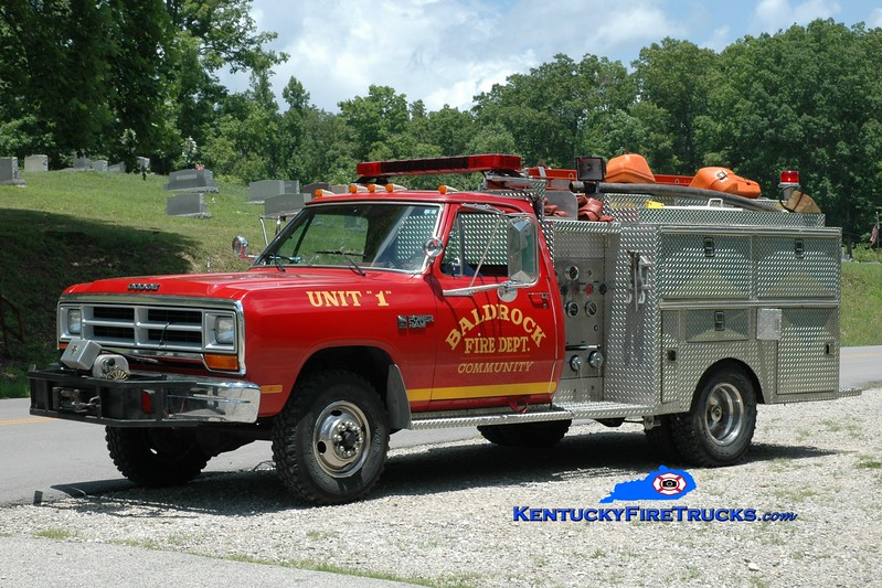 <center> Baldrock  Engine 1 <br> 1986 Dodge D350 4x4/Local 250/250 <br> Greg Stapleton photo </center>