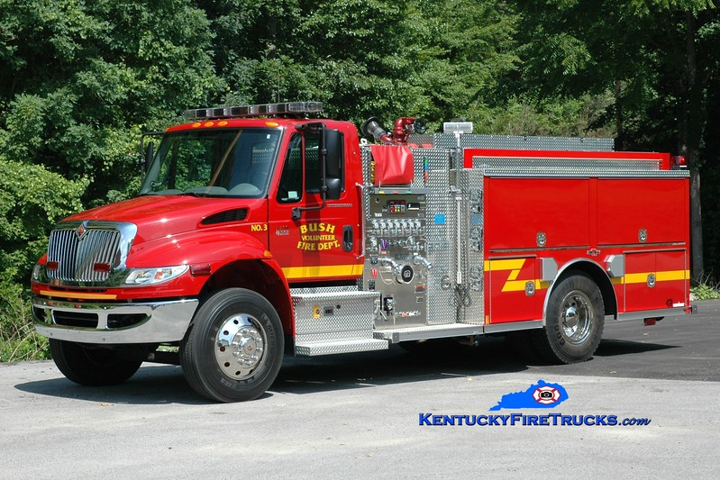 <center> Bush  Engine 3 <br> 2007 International 4400/Rosenbauer-Central  1250/1000 <br> Greg Stapleton photo </center>