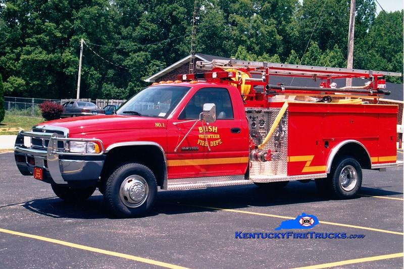 <center> Bush  Engine 1 <br> 1999 Dodge 3500 4x4/MCB 500/400 <br> Greg Stapleton photo </center>