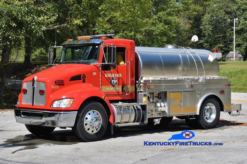 Bush  Tanker 6<br /> 2017 Kenworth T-300/1995 Starr Stainless 500/1800<br /> Greg Stapleton photo