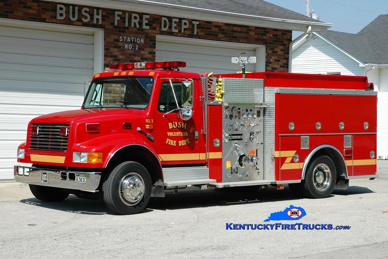 <center> Bush  Engine 2 <br> 1997 International 4700LP/KME 750/750 <br> Greg Stapleton photo </center>